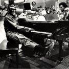 Ray Charles Amazing BW Piano TV Show Retro Music Singer 16x12 Print POSTER