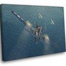 Grumman F6F Hellcat Aircraft WW2 Military Painting 50x40 Framed Canvas Print