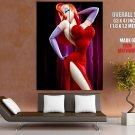 Jessica Rabbit Hot Red Dress Cartoon Disney Art GIANT Huge Print Poster