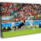 Robin Van Persie Header Goal Jump World Cup 50x40 Framed Canvas Print