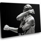 Michael Jordan NBA Legend Basketball Sport BW 40x30 Framed Canvas Art Print