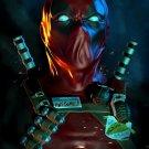 Deadpool Awesome Portrait Dark Amazing Art 24x18 Wall Print POSTER