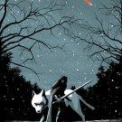 Jon Snow Game Of Thrones Wolf Winter Cool Art 24x18 Print Poster