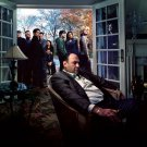 The Sopranos Characters Tony James Gandolfini TV Series 24x18 Wall Print POSTER