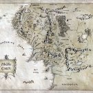 The Lord Of The Rings Middle Earth Map Art 16x12 Print POSTER