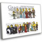 The Simpsons Game Of Thrones Funny Art TV Series 30x20 Framed Canvas Print