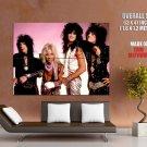 Motley Crue Retro Young Mars Neil Nikki Sixx Tommy Lee GIANT Huge Print Poster