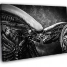 Aliens Kiss Love Xenomorph BW Movie Sci Fi Art 50x40 Framed Canvas Print