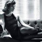 Emma Watson Hot Actress Sexy Dress Legs BW 32x24 Print Poster