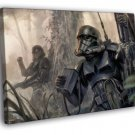 Shadow Stormtroopers Star Wars Movie Painting 50x40 Framed Canvas Print