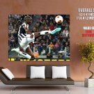 Paul Pogba Air Jump Rain FC Juventus Soccer Football GIANT Huge Print Poster