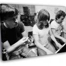 AC DC Rare Malcolm Angus Young Retro Rock 30x20 Framed Canvas Print