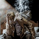 John Constantine Smoke Comic Art 32x24 Print Poster