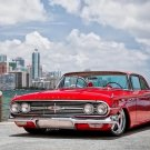 Old Car Red Chevrolet Impala 1960 Retro 24x18 POSTER