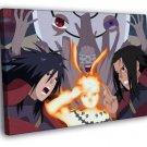 Naruto Uzumaki Shippuden Characters Anime Art 50x40 Framed Canvas Print