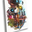 Portal 2 Charactres Aperture Chell Awesome Art 40x30 Framed Canvas Print