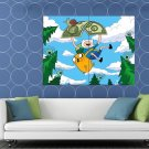 Finn Jake Adventure Time Cartoon Animated TV Series HUGE 48x36 Print POSTER