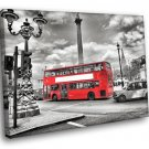 London England Red Bes Street Road Black And White 30x20 Framed Canvas Art Print