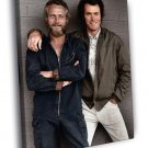 Paul Newman Clint Eastwood Retro Vintage Young 50x40 Framed Canvas Print