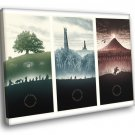 The Lord Of The Rings Trilogy Amazing Painting Art 40x30 Framed Canvas Print