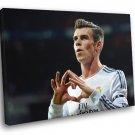 Gareth Bale Heart Real Madrid Wales Football Soccer 50x40 Framed Canvas Print