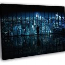 New York Lights Night Window Skyline Manhattan 50x40 Framed Canvas Print