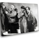The Three Stooges Vaudeville Comedy 30x20 Framed Canvas Art Print