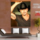 Tim McGraw Portrait Hat Tattoo Handsome Country Music GIANT Huge Print Poster