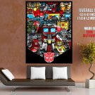 Transformers Generation 1 Autobots Classic Art Giant Huge Print Poster