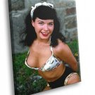 Bettie Page Pin Up Diva Bangs Tits 50x40 Framed Canvas Art Print