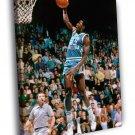 Michael Jordan North Carolina Jersey Dunk 40x30 Framed Canvas Print
