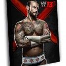 CM Punk Phil Brooks WWE Wrestling 30x20 Framed Canvas Print