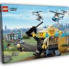 Lego City Police Forest Rangers Kids Art 50x40 Framed Canvas Print