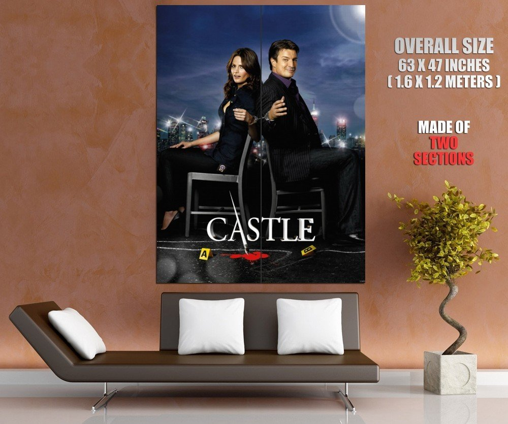 Castle TV Series Nathan Fillion Stana Katic Giant Huge Wall Print Poster