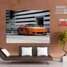 Porsche Orange Modern Cool Auto Giant Huge Print Poster