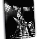 Queen BW Freddie Mercury Microphone Rock Band 30x20 Framed Canvas Print