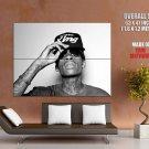 Wiz Khalifa Portrait Sunglasses Tattoos Rap Hip Hop GIANT Huge Print Poster