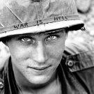 War Is Hell Unknown Soldier Vietnam 1965 Retro Bw 16x12 Print Poster