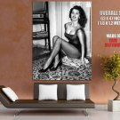 Sophia Loren BW Stockings High Heels Cleavage Hot Sexy GIANT Huge Print Poster