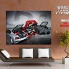 Ferrari Engine Super Car Giant Huge Print Poster