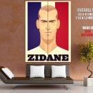 Zinedine Zidane Portrait Soccer Football Cool Art Giant Huge Print Poster