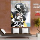 LeVeon Bell Pittsburgh Steelers Football Sport Giant Huge Print Poster