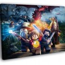 LEGO The Hobbit Characters Awesome Game Art 50x40 Framed Canvas Print