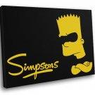 Bart Simpson Bad Black Cool Movie Art 50x40 Framed Canvas Print