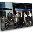 The Newsroom TV Series Cast 30x20 Framed Canvas Art Print