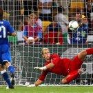 Andrea Pirlo Penalty Kick Goal Joe Hart Italy England 24x18 Wall Print POSTER