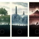 The Lord Of The Rings Trilogy Amazing Painting Art 16x12 Print Poster