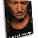 Willie Nelson American Country Music Singer 50x40 Framed Canvas Art Print