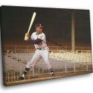 Henry Louis Hank Aaron Classic Baseball Sport 50x40 Framed Canvas Print