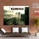 Abandoned City Highway Cars The Walking Dead TV Series GIANT Huge Print Poster